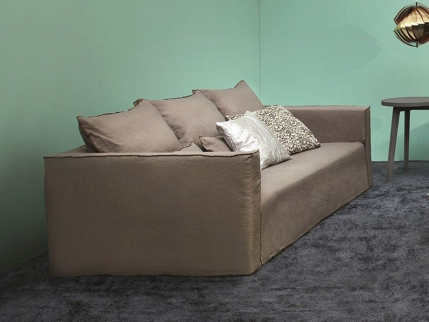 4 seater sofa with removable cover BRICK 16 by Gervasoni