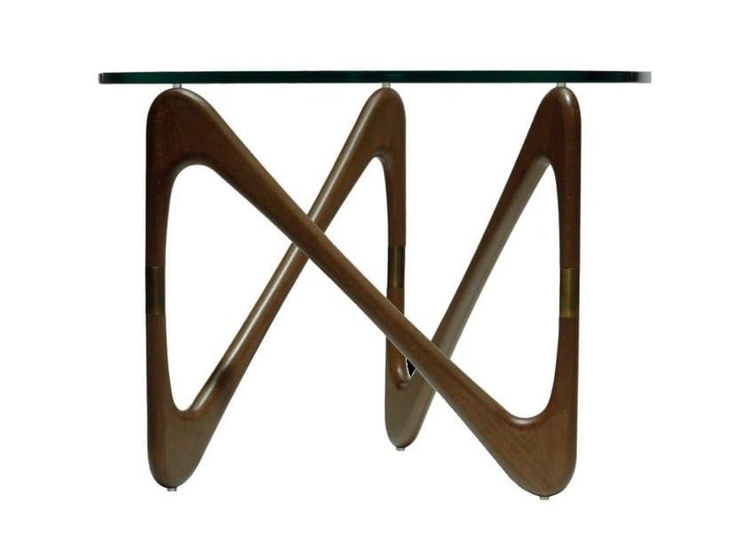 Low round coffee table MOEBIUS by Objekto