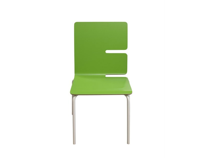 Stackable Formica© kids chair TYPOGRAPHIA KIDS E by TABISSO