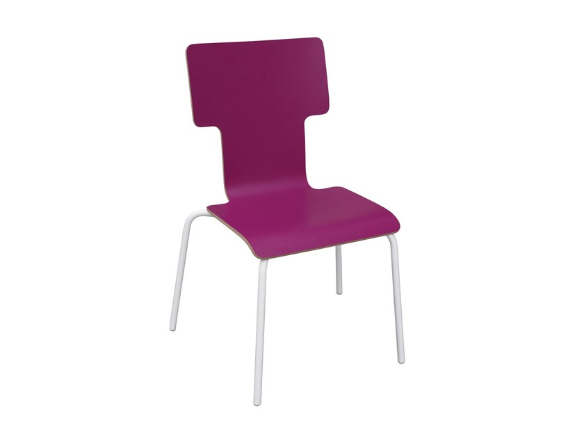 Stackable Formica© kids chair TYPOGRAPHIA KIDS I by TABISSO