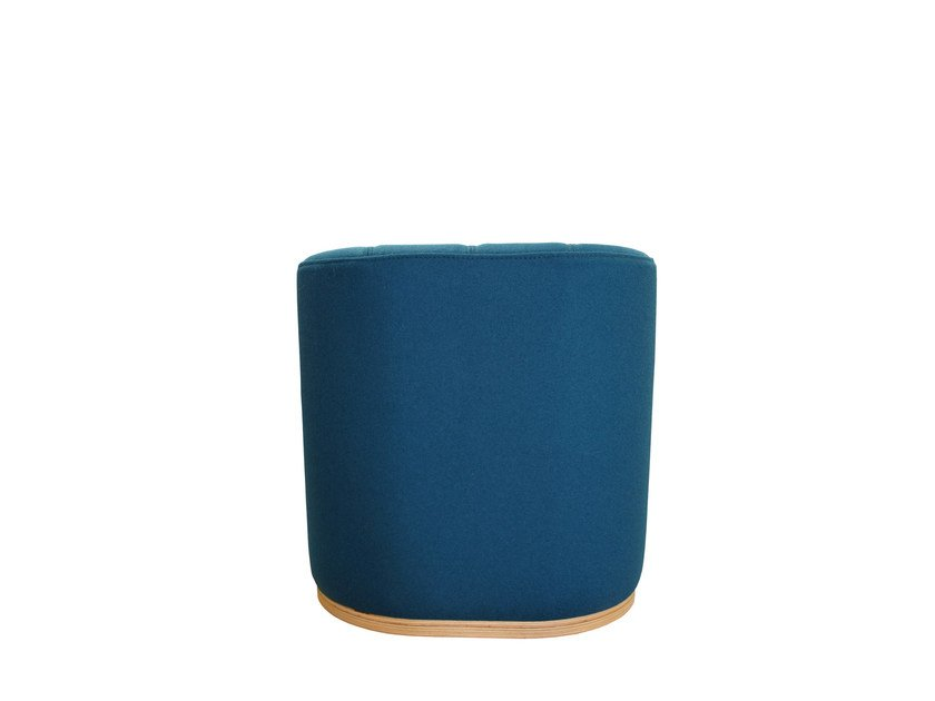 Upholstered fabric pouf UNITA SMALL   Pouf by TABISSO
