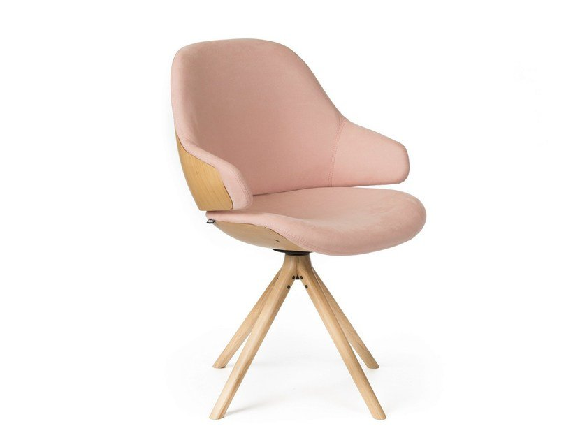 Trestle-based fabric easy chair CIEL! SWEET | Fabric easy chair by TABISSO