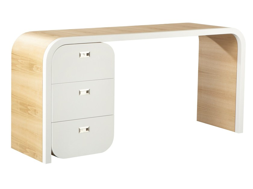 Wood veneer secretary desk GABRIEL by AZEA