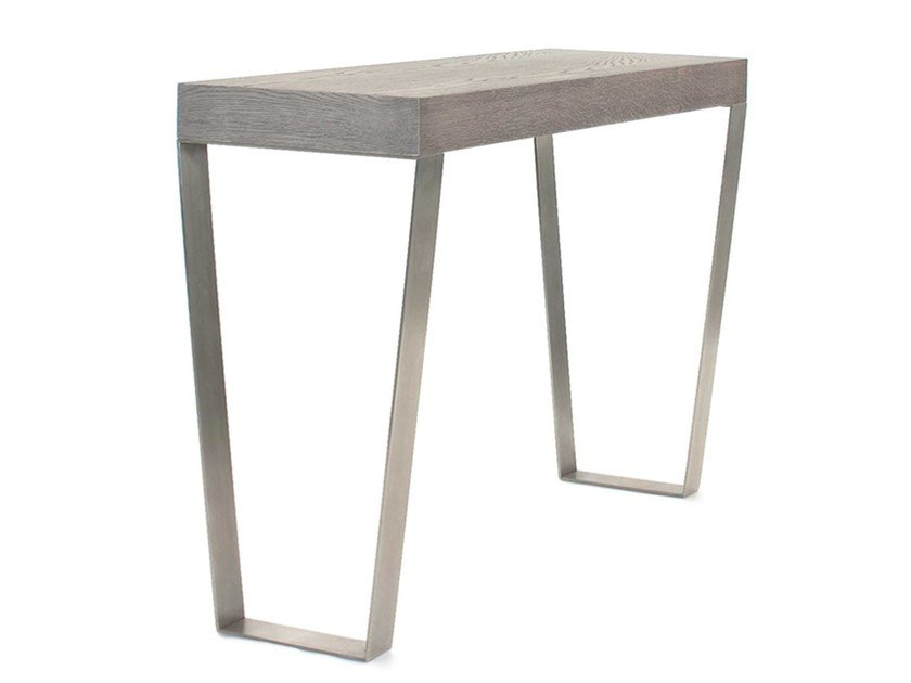 Rectangular wood veneer console table STELLA by AZEA