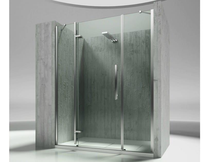 Niche tempered glass shower cabin TIQUADRO QM by VISMARAVETRO