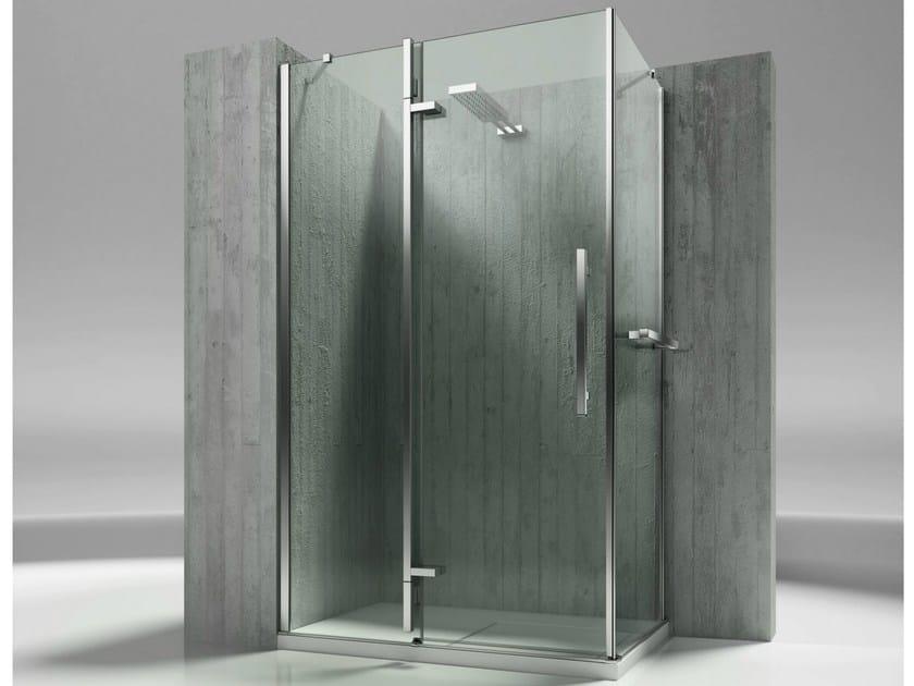 Corner custom tempered glass shower cabin TIQUADRO QA+QF by VISMARAVETRO