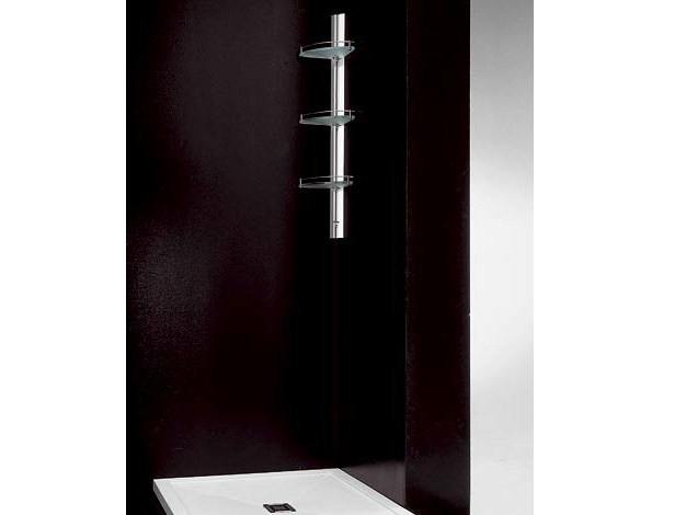 Wall-mounted corner aluminium shower column AMICO JUNIOR by VISMARAVETRO