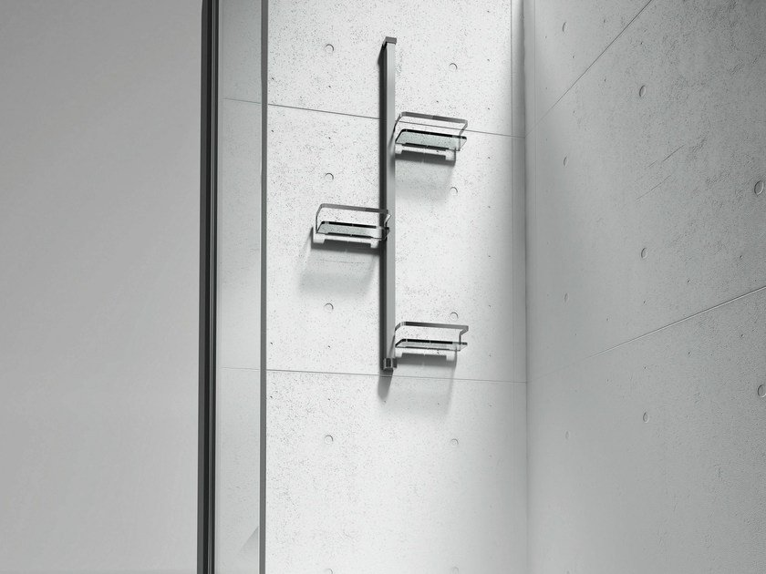 Wall-mounted stainless steel shower column BASKET by VISMARAVETRO