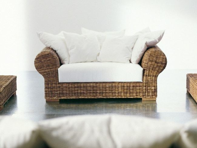 2 seater sofa with removable cover CROCO 01 by Gervasoni