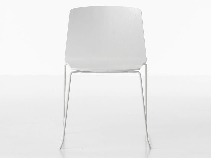 Sled base chair RAMA | Sled base chair by Kristalia