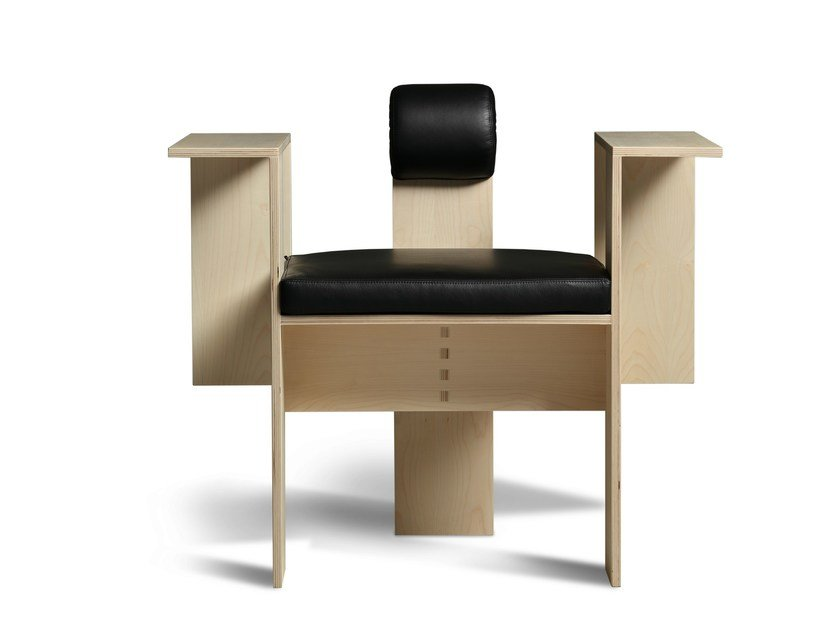 Multi-layer wood armchair with armrests CHAISE MORELATO | Armchair by Morelato