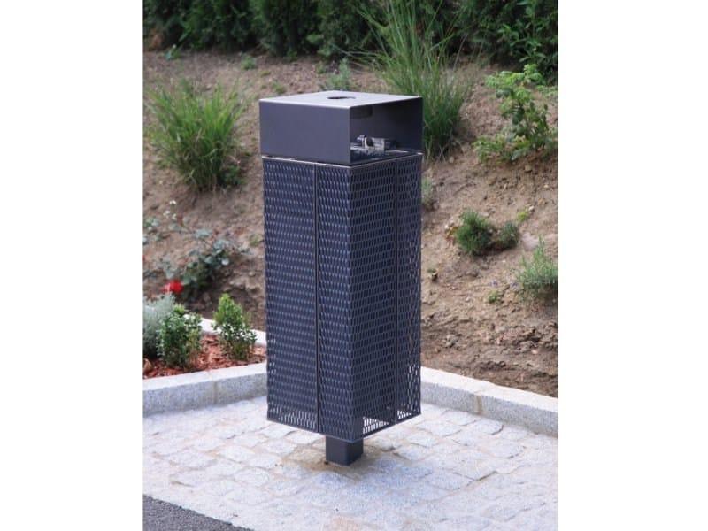 Outdoor steel litter bin NANUK | Litter bin with lid by mmcité1