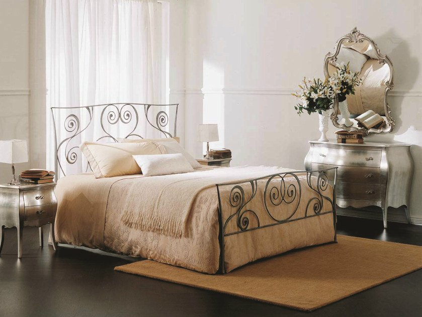 Classic style iron double bed MACRAME by Bontempi