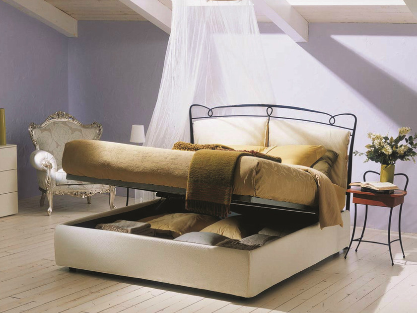 Iron double bed VERSILIA   Storage bed by Bontempi