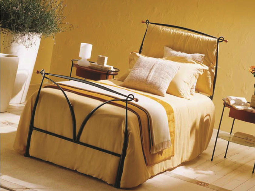 Iron single bed MANON | Single bed by Bontempi