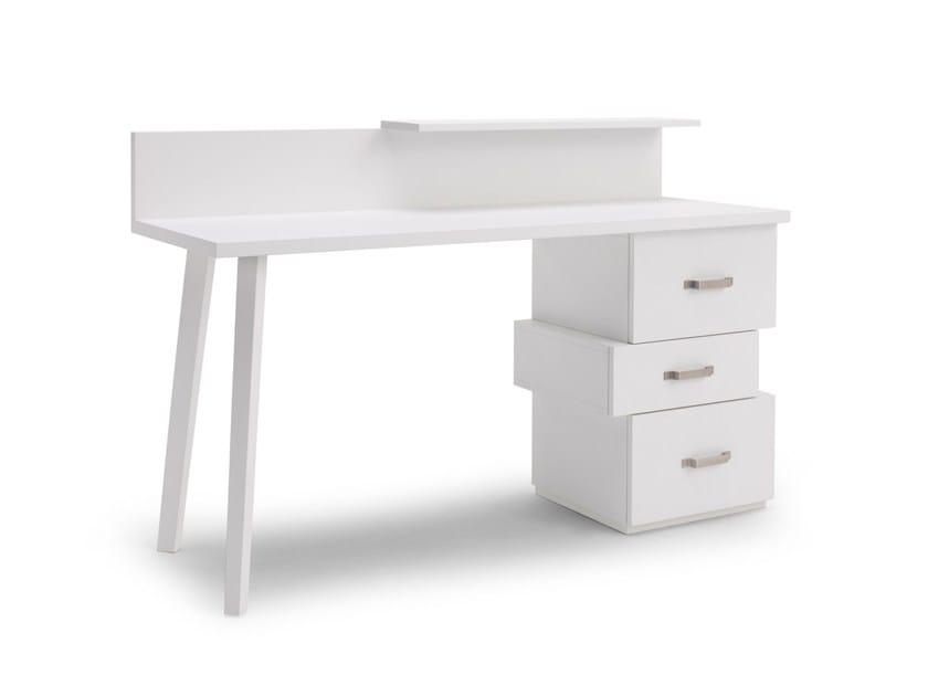 Walnut secretary desk LC 61 by Letti&Co.
