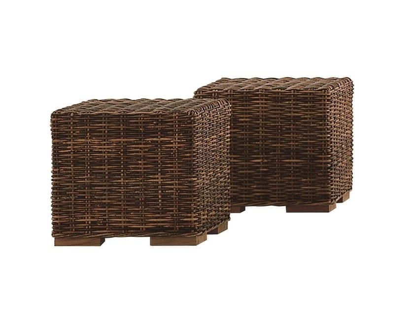 Rattan coffee table / garden pouf CROCO 11 by Gervasoni