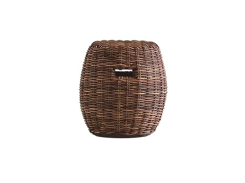 Rattan coffee table / garden pouf CROCO 13 by Gervasoni