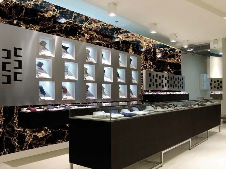 Indoor glass wall tiles with marble effect STONES by Brecci Glass