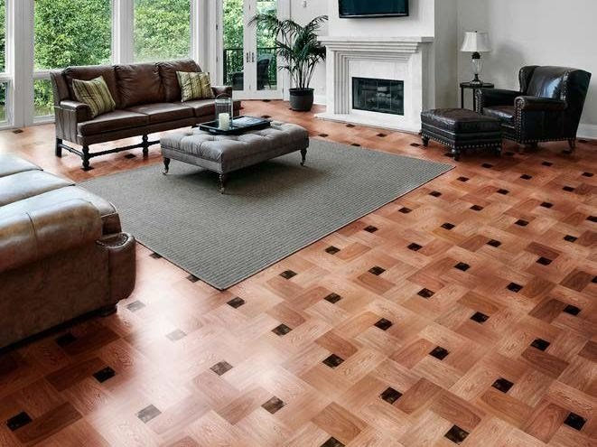 Wooden flooring LINEA WOOD GLASS PARQUET by Brecci Glass