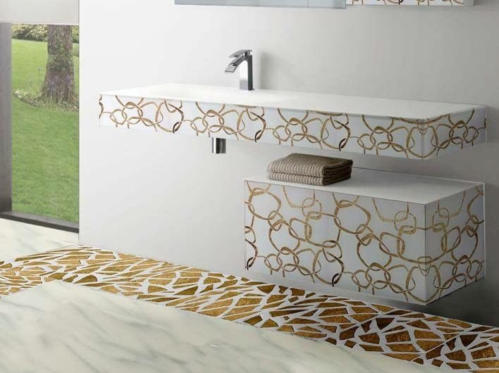 Indoor glass wall/floor tiles PALLADIANA by Brecci Glass