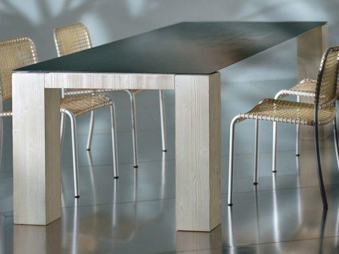 Rectangular dining table METAL 34 by Gervasoni