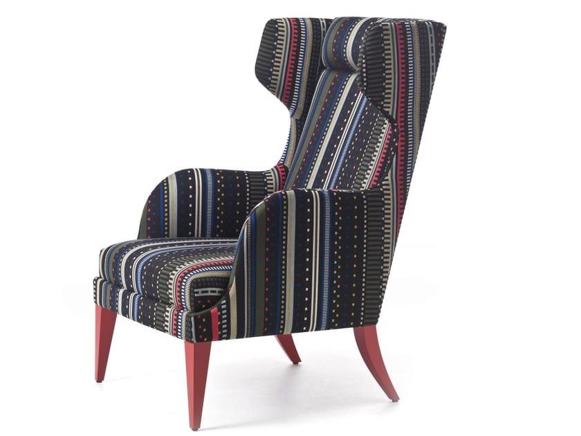 Fabric wingchair ONDA 08 / 108 / 18 / 118 by Very Wood