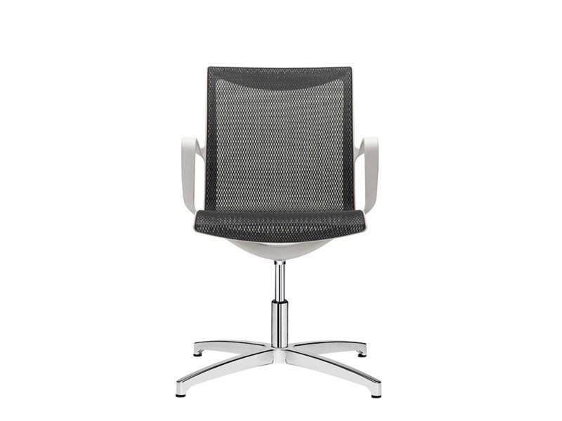 Mesh reception chair with armrests SOUL AIR | Reception chair by SitLand