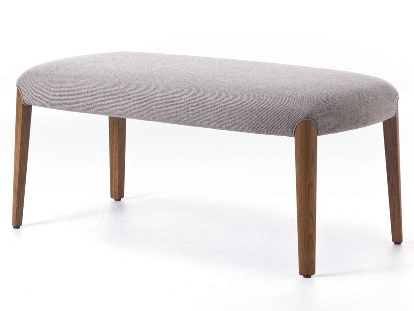 Backless fabric bench seating BELLEVUE 10 by Very Wood