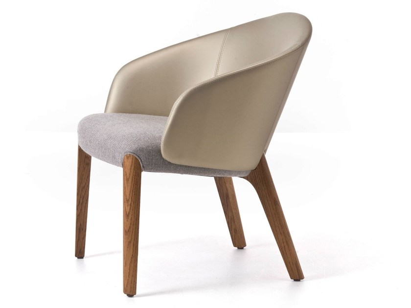 Upholstered fabric armchair with armrests BELLEVUE 04 by Very Wood