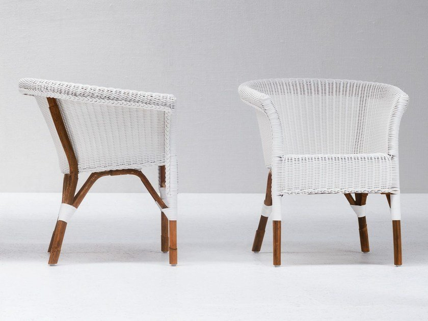 Malacca easy chair with armrests WE 25 by Gervasoni