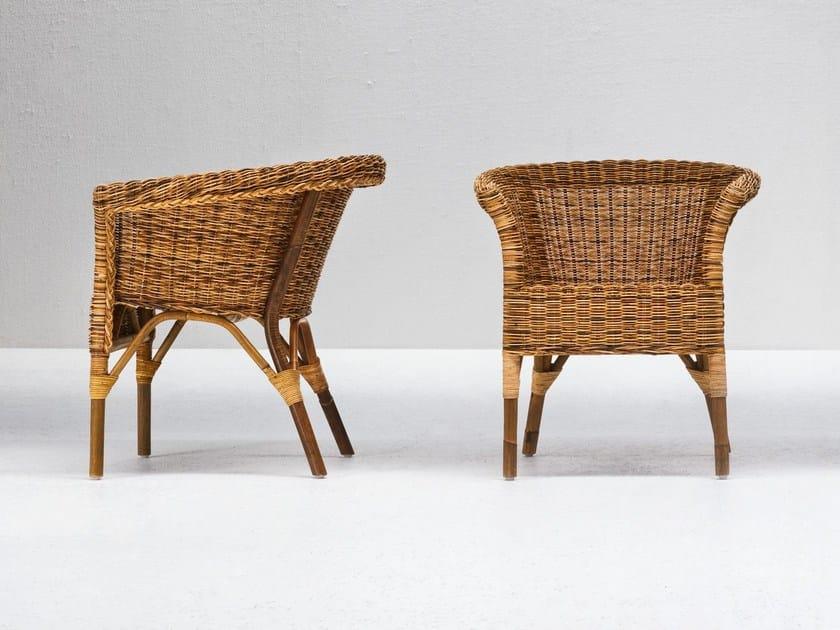 Pulut rattan garden armchair with armrests WE 26 by Gervasoni