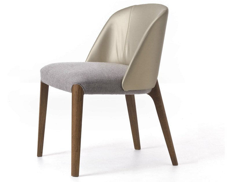 Upholstered restaurant chair BELLEVUE 01 by Very Wood