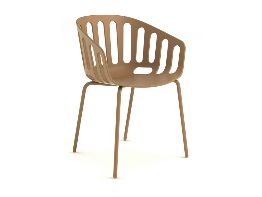 Chair with armrests BASKET CHAIR by GABER