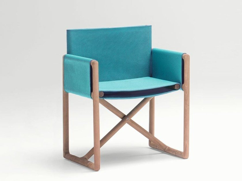 Folding garden chair with armrests PORTOFINO | Garden chair by Paola Lenti