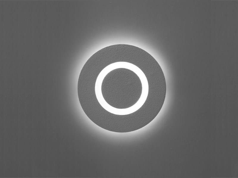 Wall-mounted concrete steplight MATRIX ROUND LED by Orbit