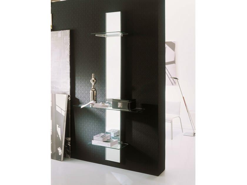 Mirror / wall shelf VOILÀ | Wall-mounted mirror by Bontempi