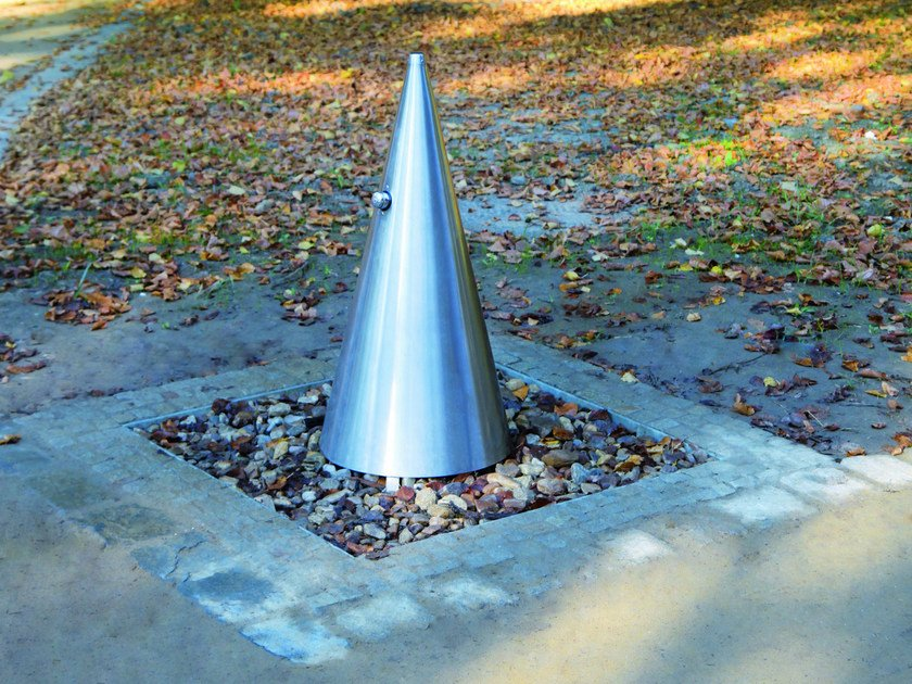 Stainless steel Drinking fountain HYDRO by mmcité1