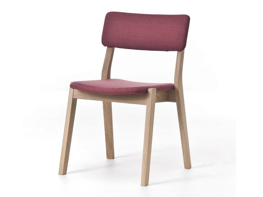 Stackable fabric chair FRAME 01 / FRAME OUT 01 by Very Wood