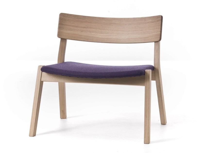 Stackable oak armchair FRAME 14 / FRAME OUT 14 by Very Wood