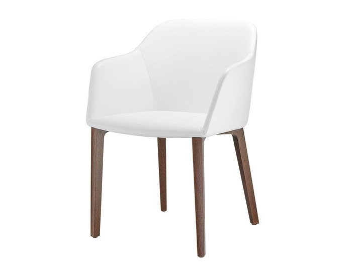 Leather chair with armrests FINA CLUB | Leather chair by Brunner