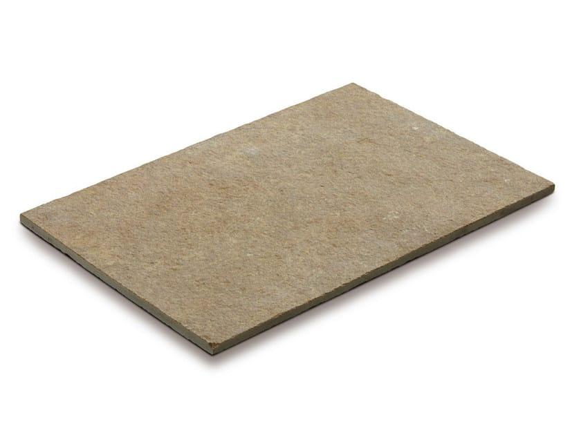 Calcareous stone outdoor floor tiles TANDUR YELLOW by GRANULATI ZANDOBBIO