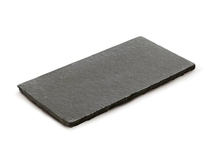 Calcareous stone outdoor floor tiles TANDUR GREY by GRANULATI ZANDOBBIO
