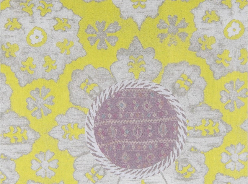 Cotton fabric with floral pattern ASTRID BLUM by KOHRO