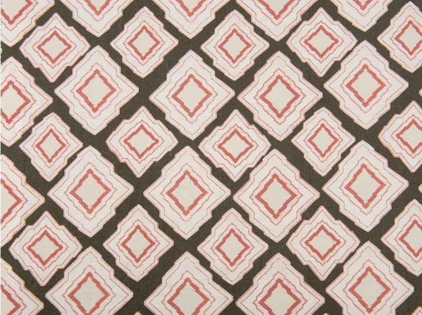 Cotton fabric with graphic pattern SHANNYN PATCH by KOHRO