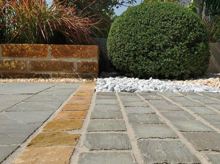 Natural stone outdoor floor tiles AUTUMN GREY by GRANULATI ZANDOBBIO