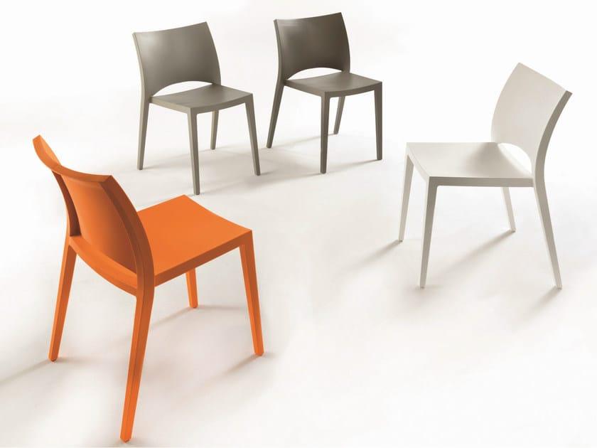 Stackable polypropylene chair AQUA by Bontempi
