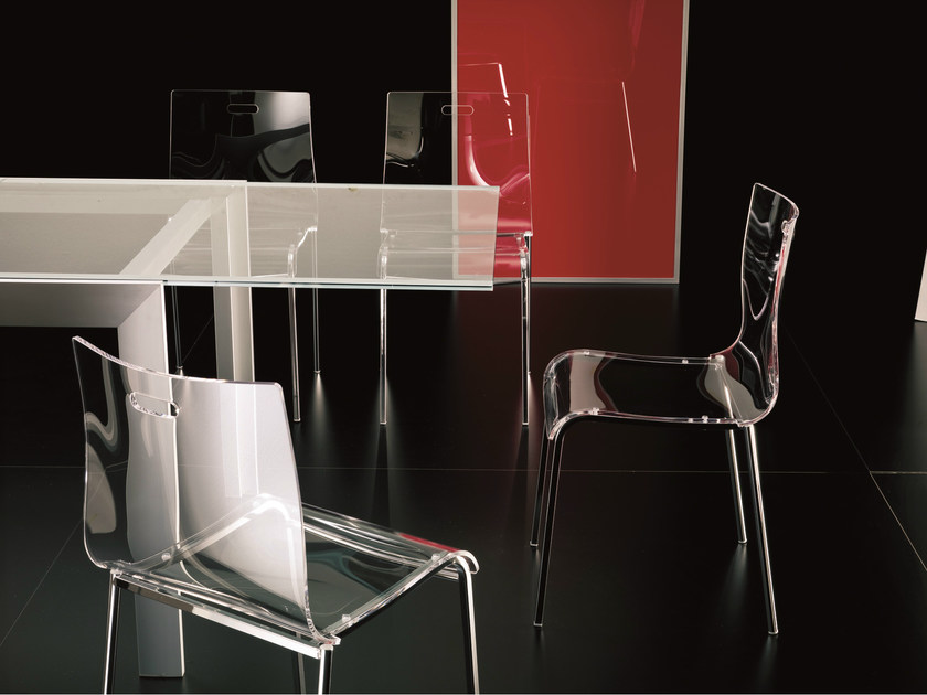 Contemporary style steel chair FELIX by Bontempi