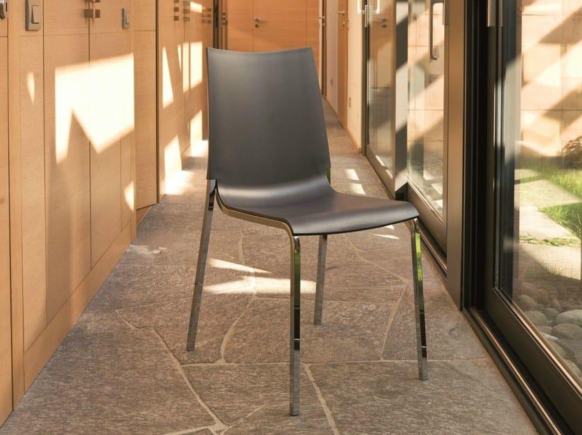Stackable plastic chair EVA   Polypropylene chair by Bontempi