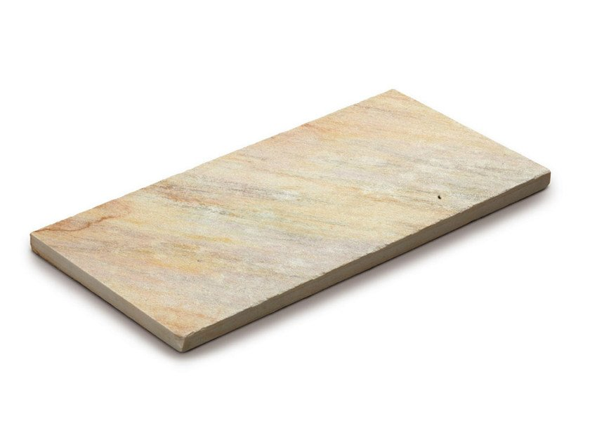 Quartzite outdoor floor tiles QUARZITE BRASILIANA GIALLA by GRANULATI ZANDOBBIO